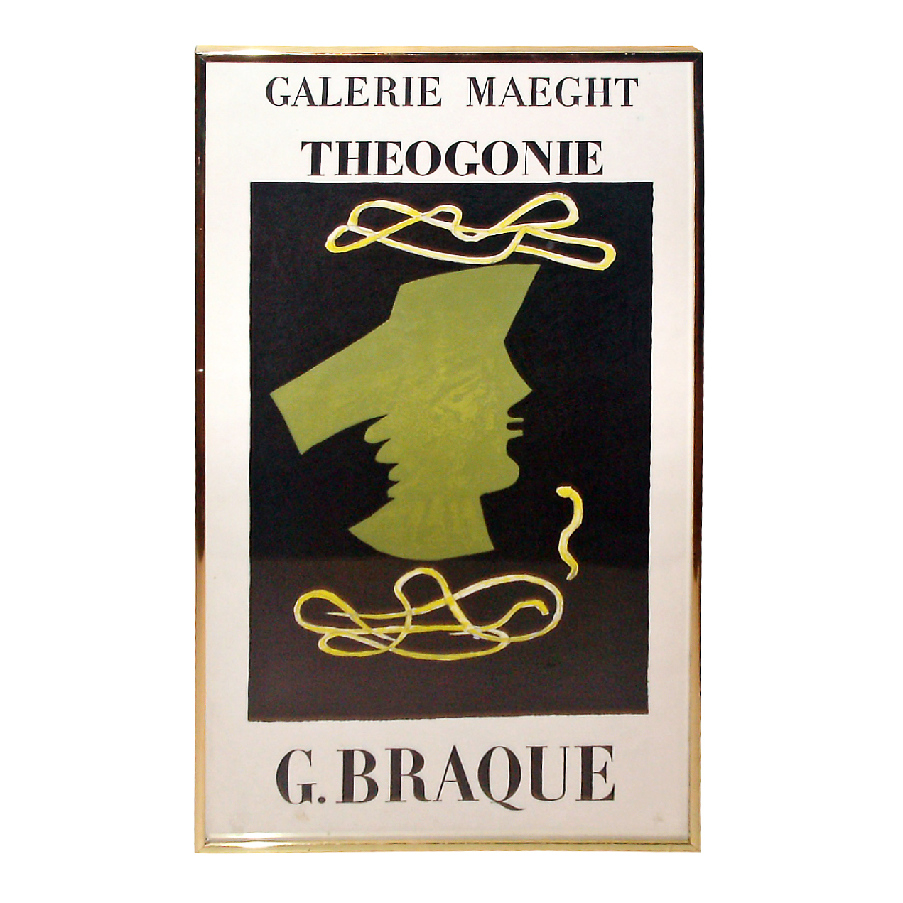 "Vintage Gallery Maeght Exhibition Poster ""Theoganie"""