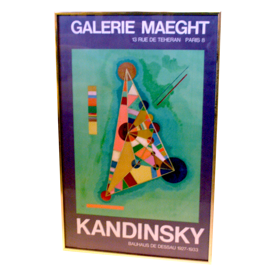 Exhibition poster for the works of Kandinksi