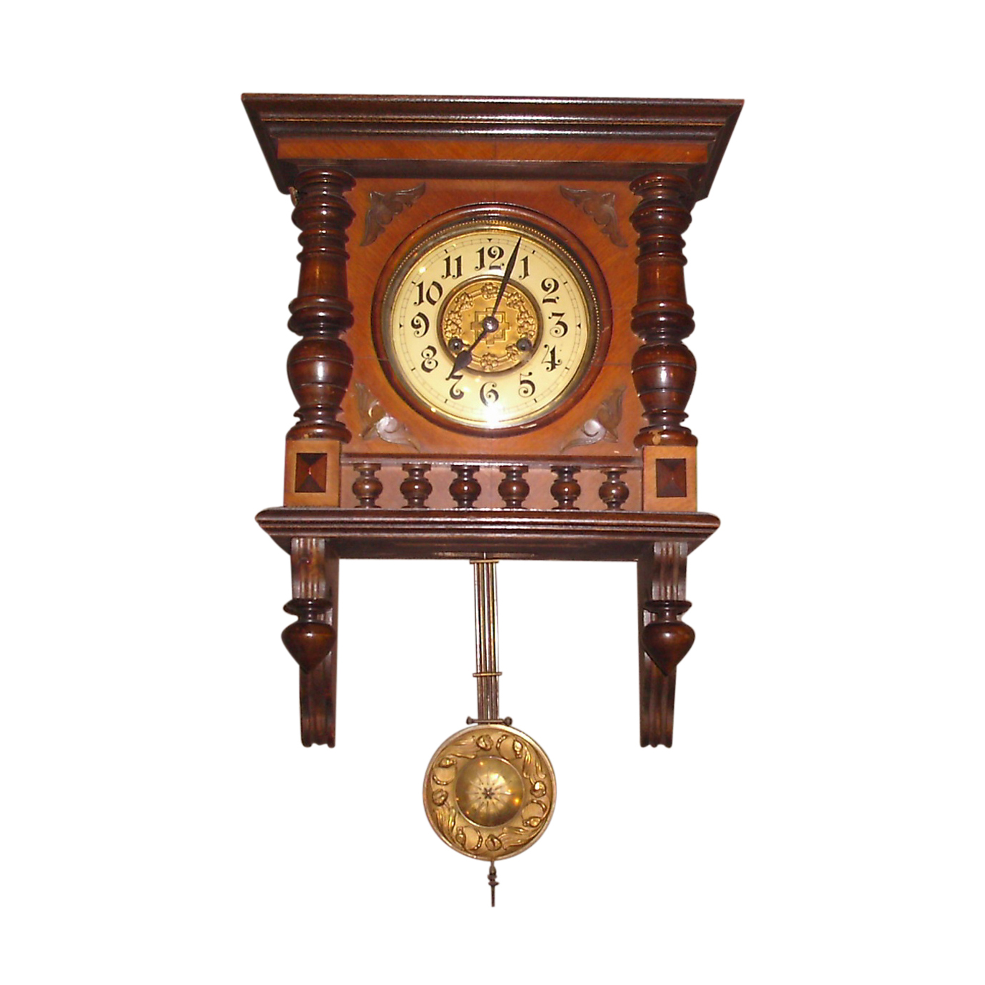 GERMAN REGULATOR WALL CLOCK WITH 8 DAY MOVEMENT