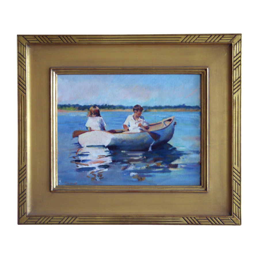 Boy and a Girl in a Rowboat