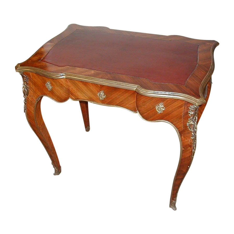 Louis XV King Wood Bureau Plat