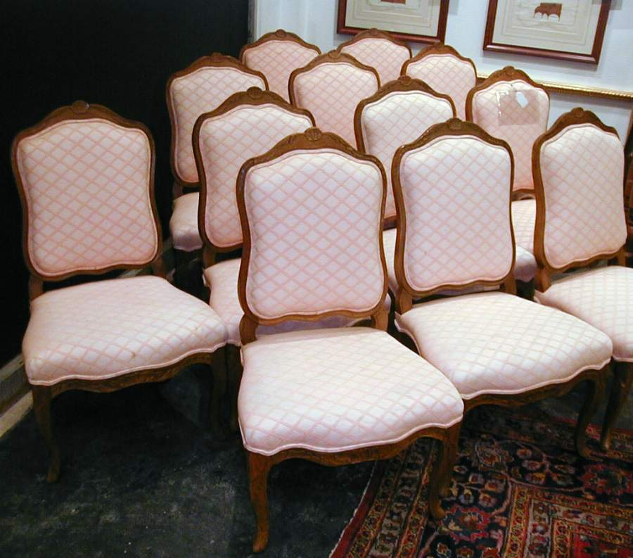 Set of 12 French Style Chairs
