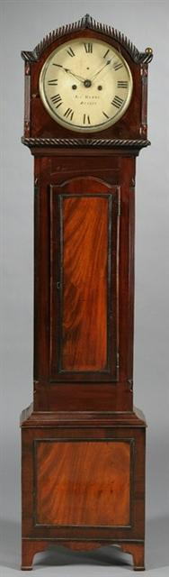 Irish Mahogany Tall Case Clock 13024